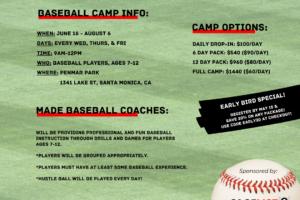 Summer Baseball Camp in Santa Monica